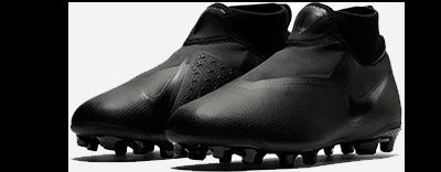 Chaussure de foot Nike Phantom Vision DF MG noire enfant